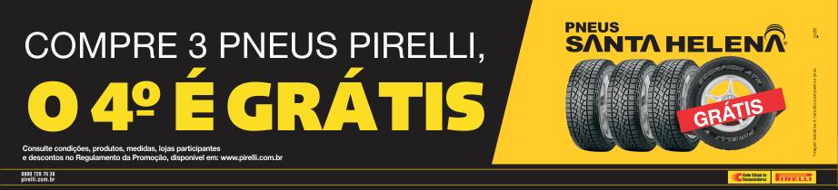Banner Promoção Compre 3, Leve 4 Pirelli